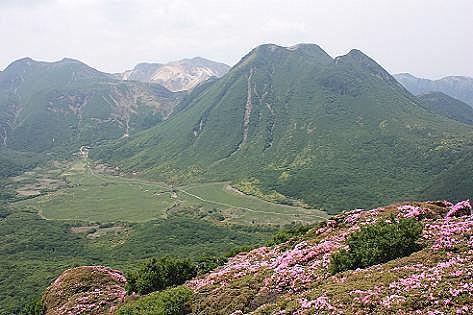 三俣山や坊がつるが見える場所で♪