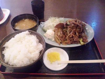 20130403肉政白鷺店焼肉定食600円