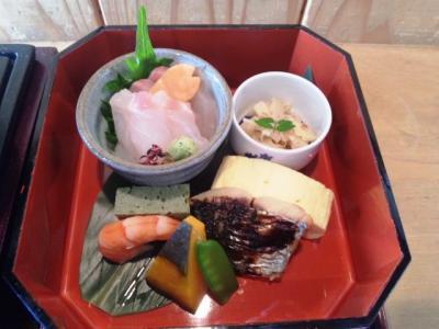 20130426佛蘭西屋2階和食にて美酒鍋御膳1500円小鉢