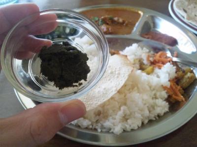 130509知立RAJネパールでボッタをふきの葉