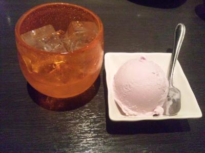 130525しーさ東三国ブールーシールアイス紅芋300円久米仙ロック350円
