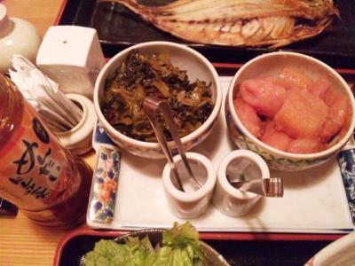 130627博多もつ鍋 やまや大阪北浜店高菜、明太子食べ放題