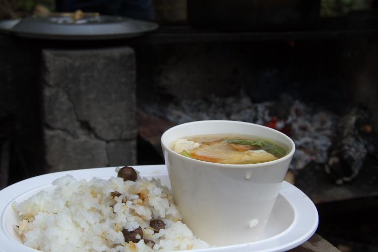 むかごご飯&春雨スープ★ごちそーさま