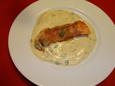 鮭のチーズクリーム