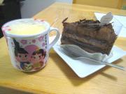 プリン&チョコケーキ