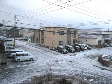うっすら雪景色