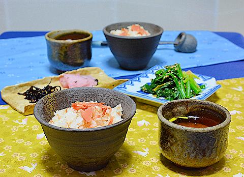 鮭の炊き込みご飯ー80