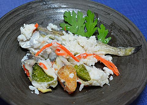 子持ちハタハタの飯寿司2