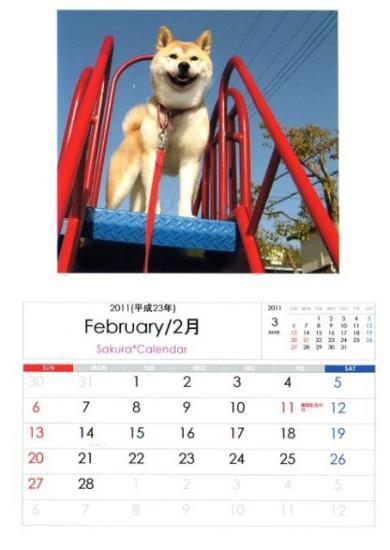 さくらカレンダー2月B