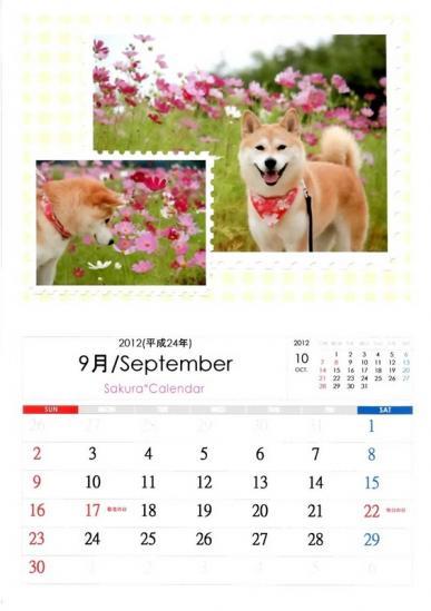 9月さくらカレンダーA