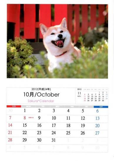 10月さくらカレンダーA
