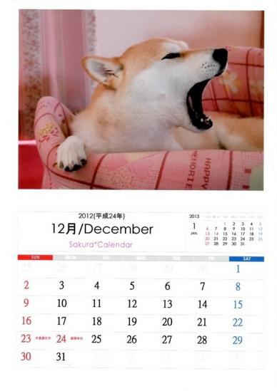 12月さくらカレンダーA