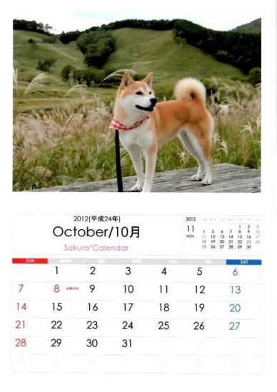 10月さくらカレンダーB