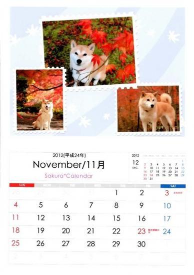 11月さくらカレンダーB