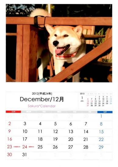 12月さくらカレンダーB