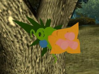 空飛ぶユリの花