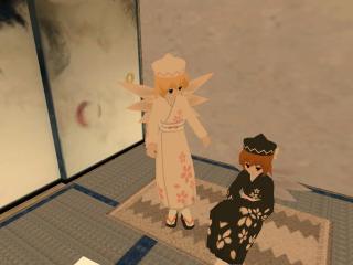 白い着物黒い着物