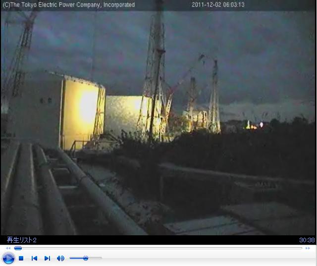 2011年12月2日午前6時4分 ふくいちライブカメラ