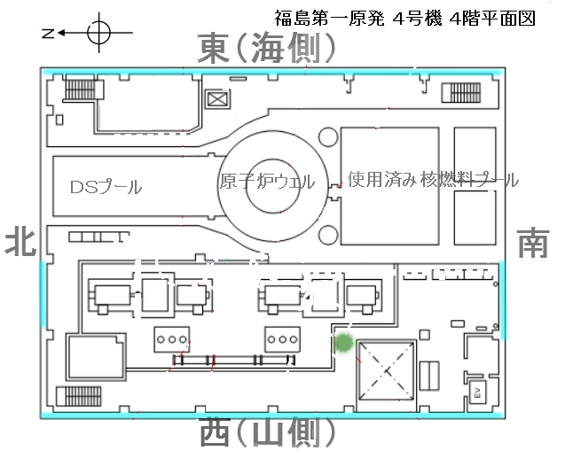 4号機原子炉建屋4階平面図FFF