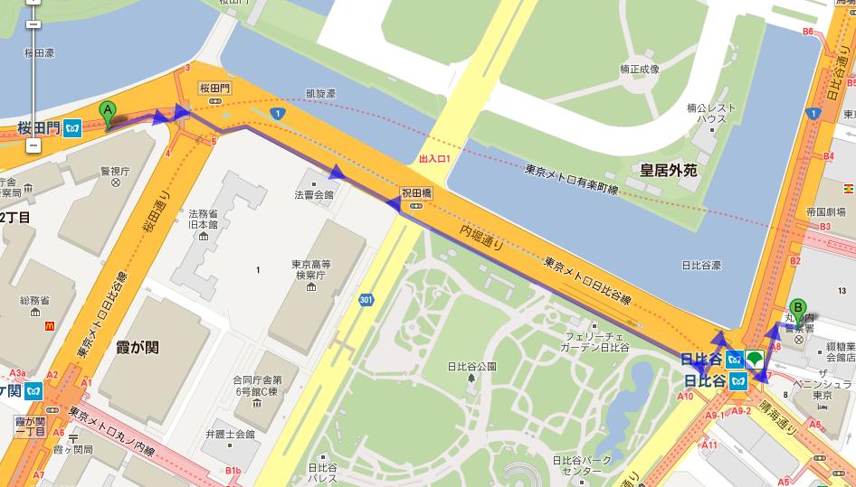 「警視庁本庁舎 地図」の画像検索結果