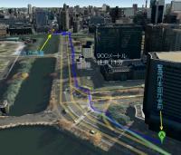 警視庁本部庁舎 から 丸の内警察署 - Google マップ3
