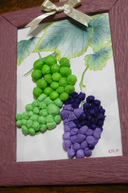葡萄の額3