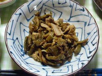 ずいきと豚肉の炒め煮
