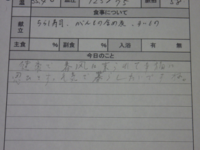 Sさん連絡帳
