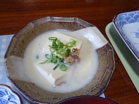 五右衛門風湯豆腐