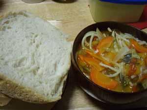 ホームベーカリーパンとスープ