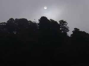 人吉城跡の太陽