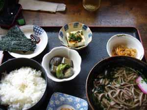 川海苔定食(そば定食)