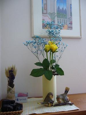 カスミ草とバラ1