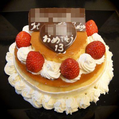 息子のプリンケーキ
