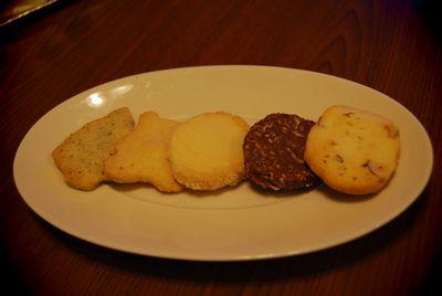 5種のクッキー