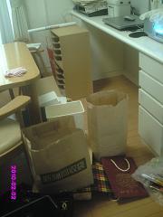 家事デスク下の掃除