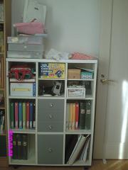 洋室小物棚 整理前