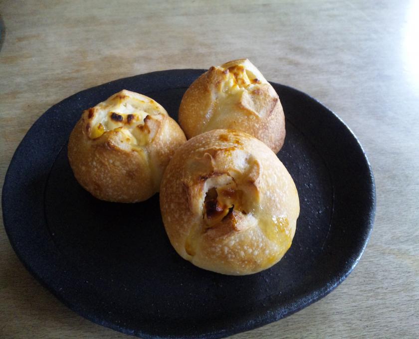 クリチと柚子マーマレードのパン