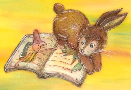 ウサギと本