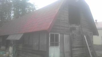 ギャンブレル屋根の畜舎