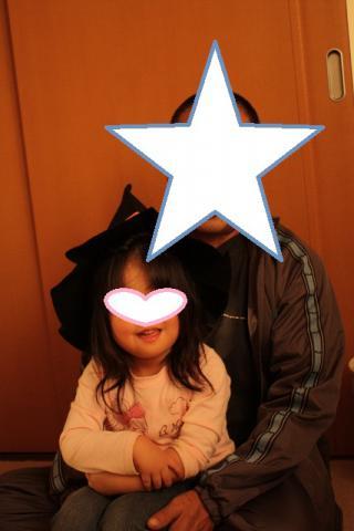 20121029 じいじと 魔女の帽子 (427x640)