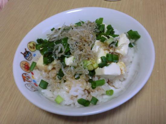 1/25 豆腐とじゃこのごはん