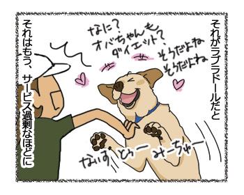 羊の国のラブラドール絵日記シニア!!「ジョギングの楽しみ」4