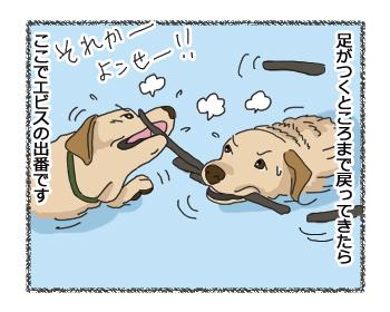 羊の国のラブラドール絵日記シニア!!「ラブラドール・・・?」4コマ4