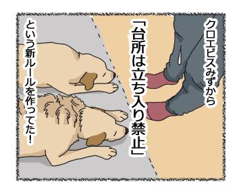 羊の国のラブラドール絵日記シニア!!「勝手に!?新ルール」4コマ4