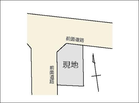松川町26番2測量図