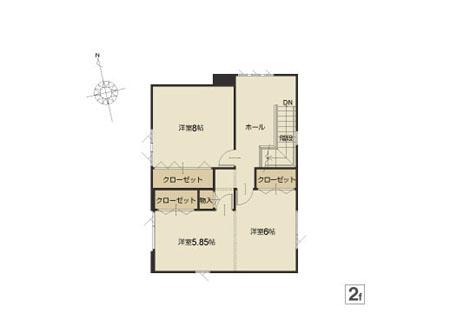 松川町26番2F平面図