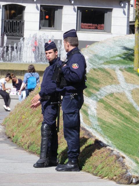 フランスの警察官