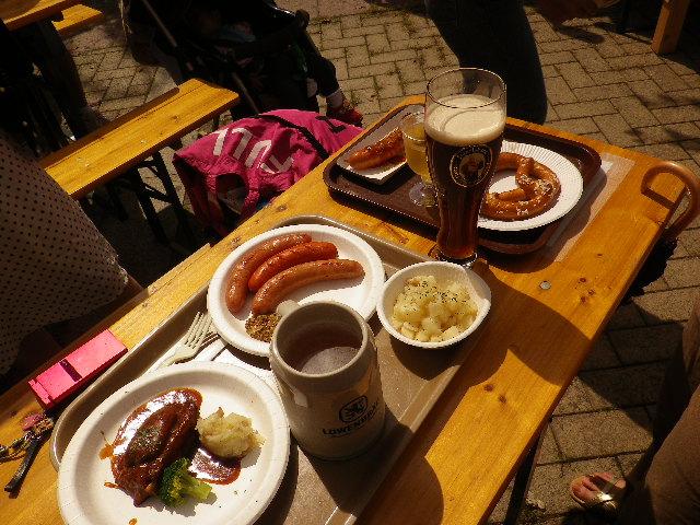 ドイツビールとソーセージなど