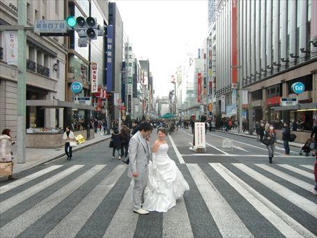 銀座四丁目の結婚式 ①